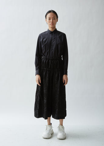 Leaf Pattern Jacquard Pants