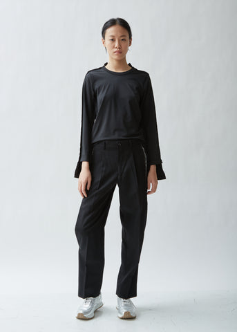 Wool Gabardine Split Seam Pants