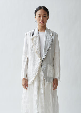 Combination Distressed Linen Jacket