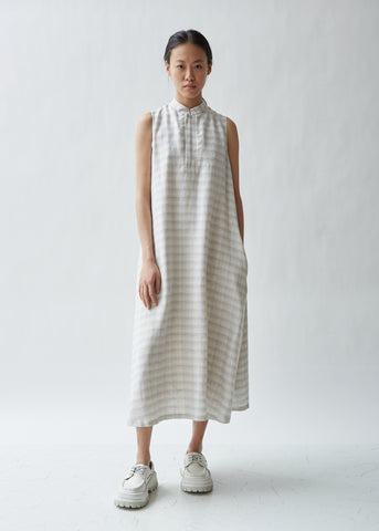 Phenomenon Checked Linen Dress