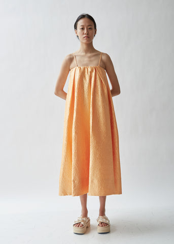 Sleeveless Crinkled Taffeta Dress