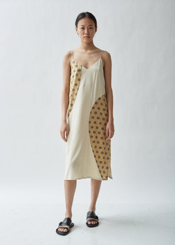 Ferentino Printed Silk Slip Dress