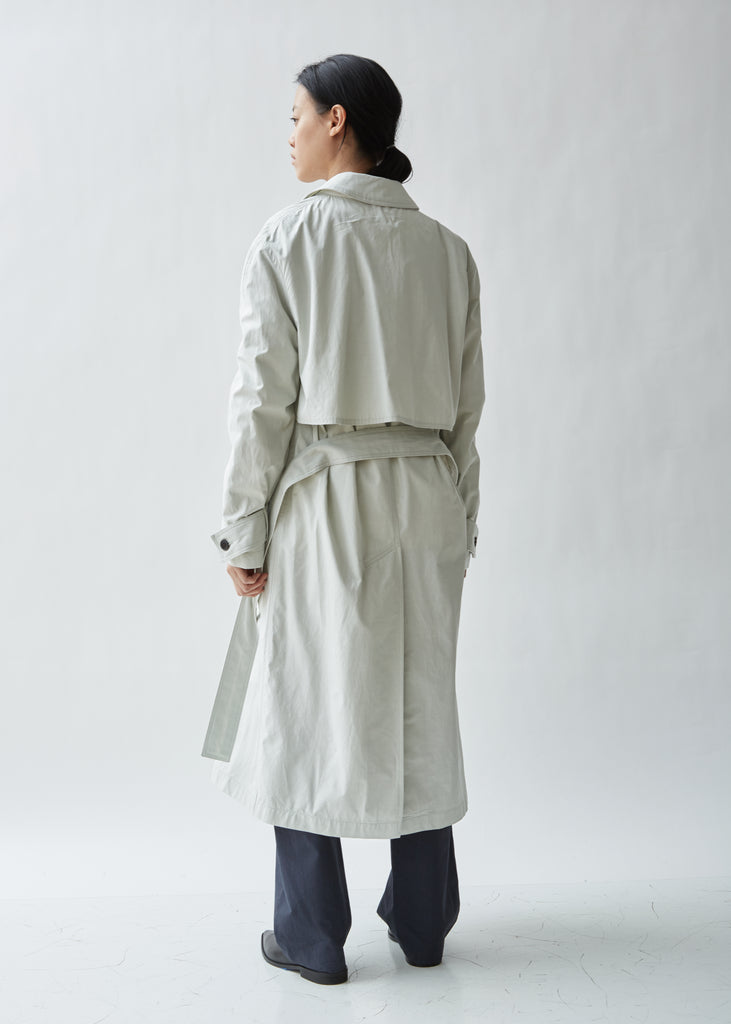 Chalk Canvas Trench Coat
