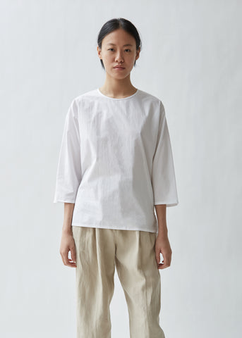 Separation Cotton Poplin Top