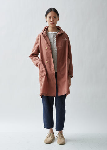 Garment Washed Hooded Rain Jacket