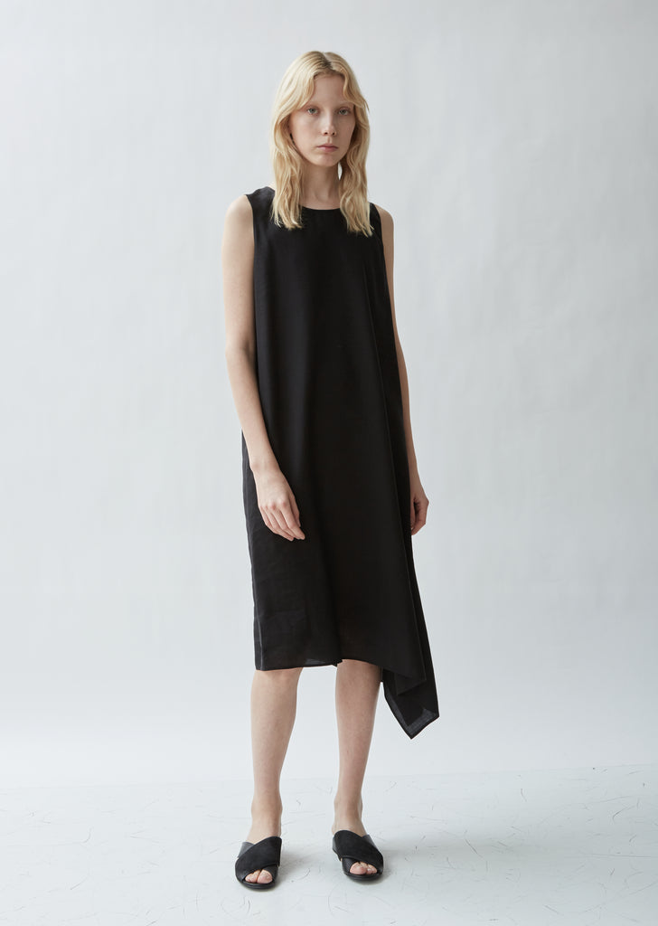 Asymmetrical Sleeveless Cape Dress