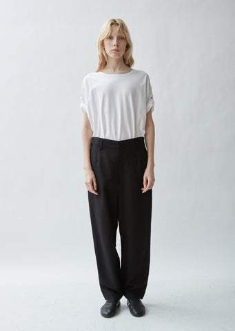 Linen Blend U-Tapered Wide Leg Pants