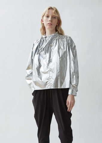 Tessa Metallic Cotton Top