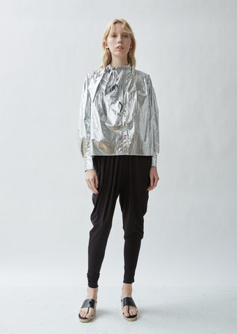 Marian Draped Crepe Trousers