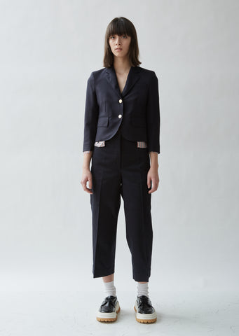 Cropped Wool Sports Blazer