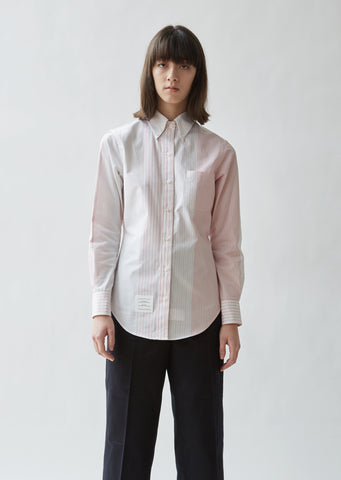 Classic Striped Poplin Button Down Shirt