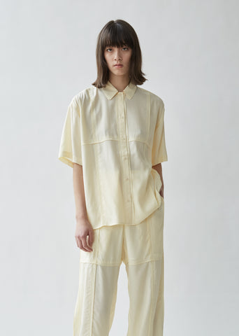 Paneled Short Sleeve Shirt