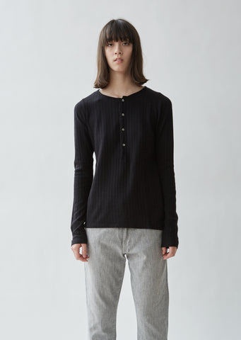 Pointelle Cotton Henley