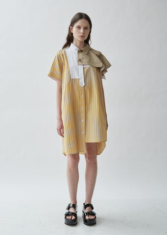 Poplin Stripe Shirting Dress
