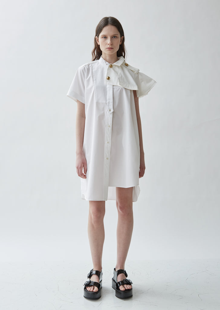 Poplin Mixed Shirting Dress
