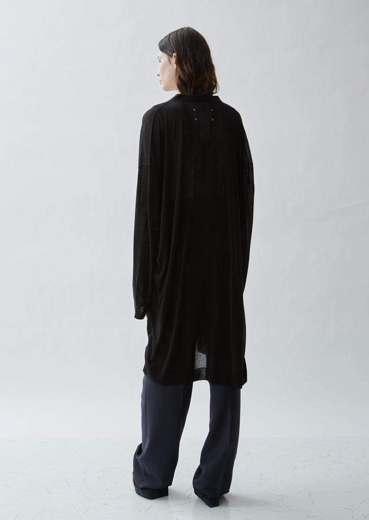 Gauge 18 Jersey Silk Long Cardigan
