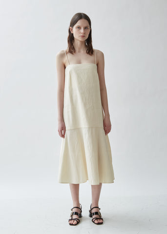 Andorra Sleeveless Cotton Linen Dress