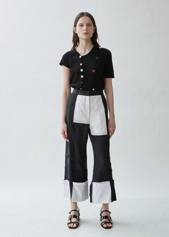 Patchwork Panelled Trousers