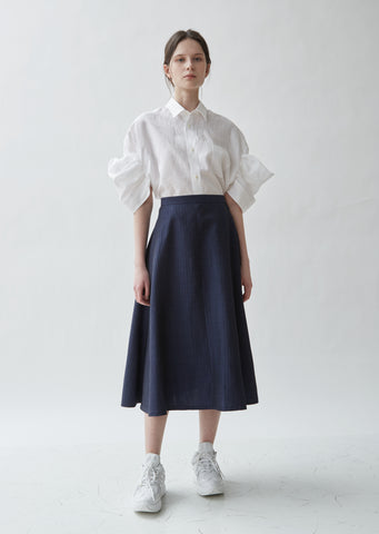 Wool Linen Herringbone Skirt