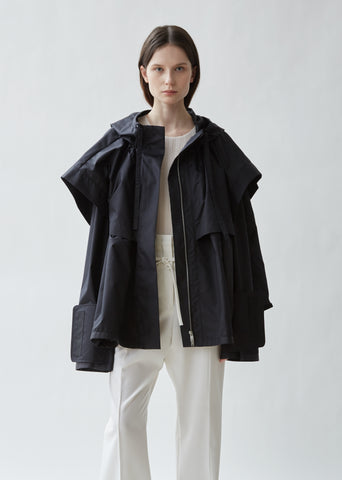 Geo Hooded Cape Jacket