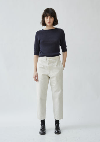 Cotton Drill Tapered Trousers