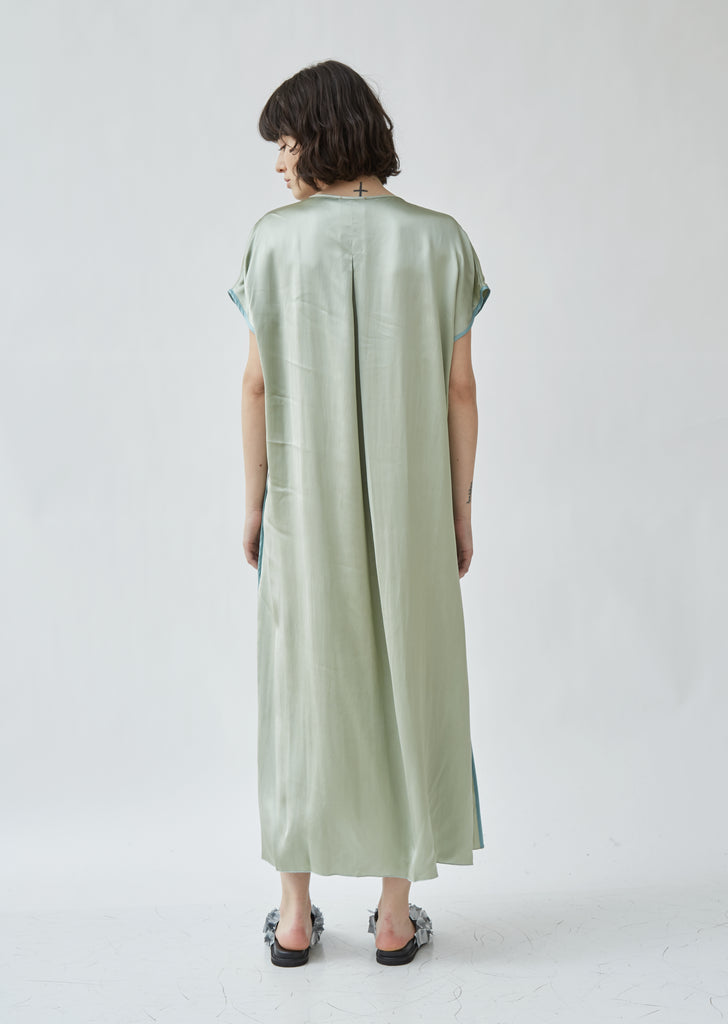Shaded Satin Belted Kaftan