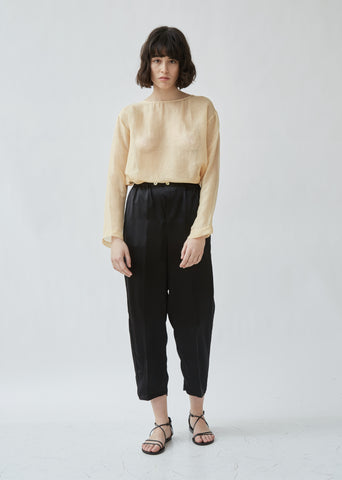 Shaded Satin Pants With Elastic