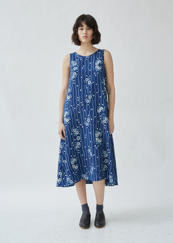Sakura Cutover Sleeveless Dress