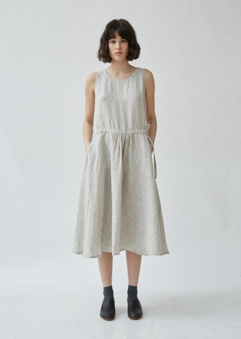 Linen Crewneck Sleeveless Dress