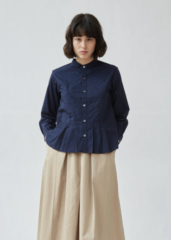 Cotton Broad Pintuck Shirt