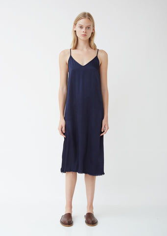 Pebble Satin Little Slip Dress