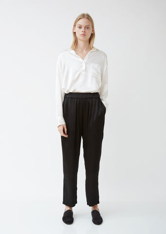 Pebble Satin Ankle Pants