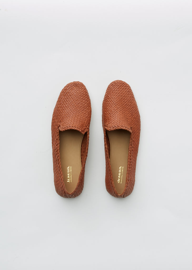 Damas Woven Leather Slippers