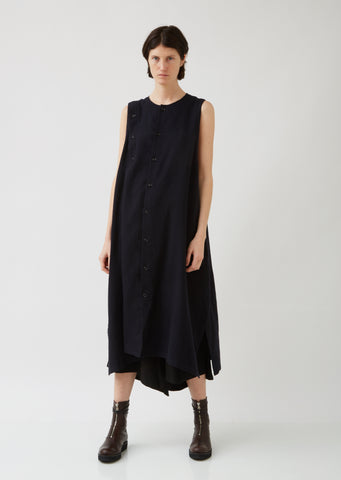 S-Asymmetrical Btn Dress