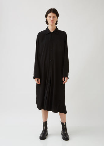 U-F Drape Shirt Dress