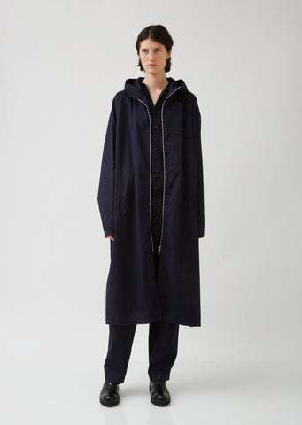 Cotton Zip-Up Coat