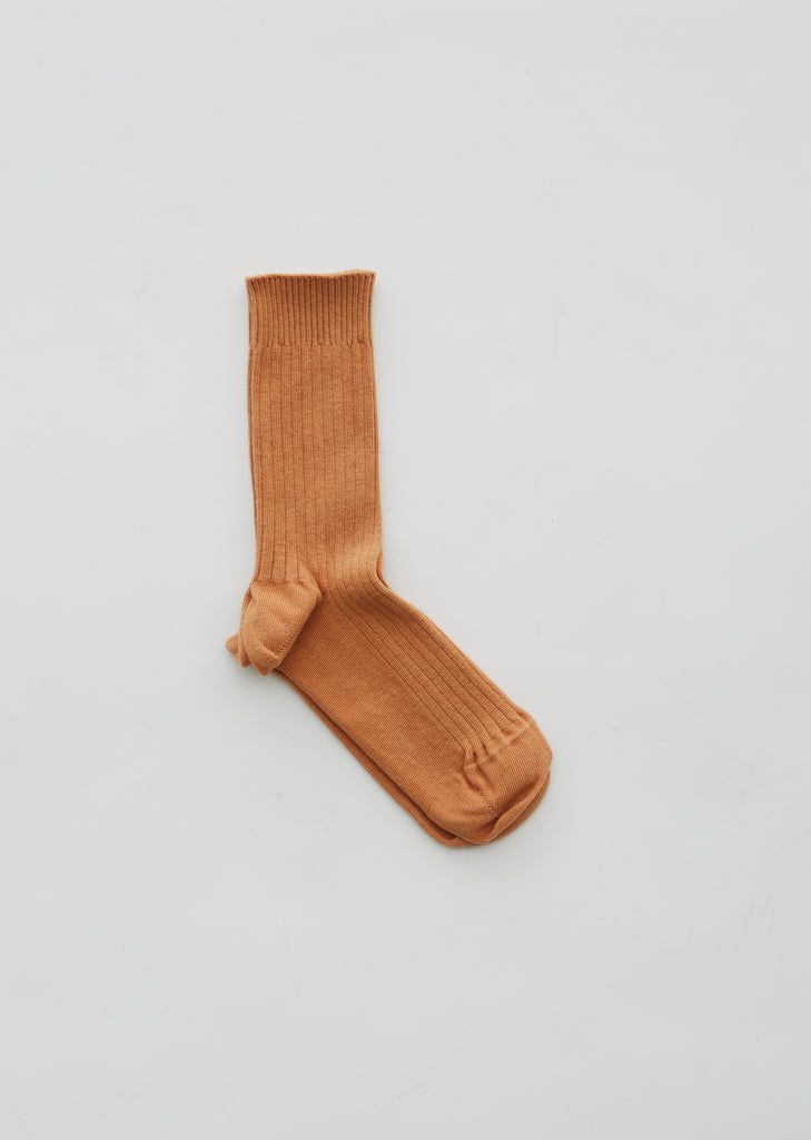 Cotton Rib Ankle Socks