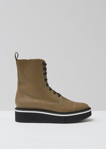 British Platform Lace Up Boots