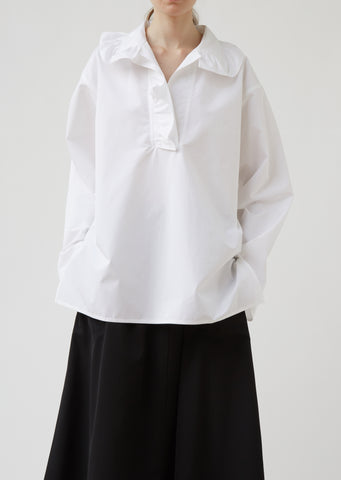 Balmoral Long Sleeve Top with Ruffled Collar