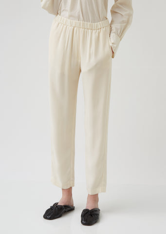 Viscose Crepe Enverssatin Pants With Elastic