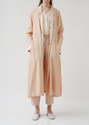 Viscose Crepe Duster Coat
