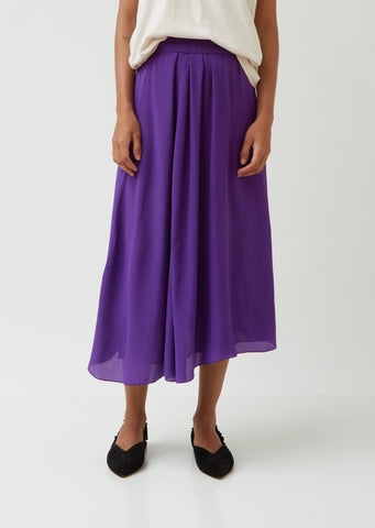 Yeba Silk Crepe De Chine Skirt