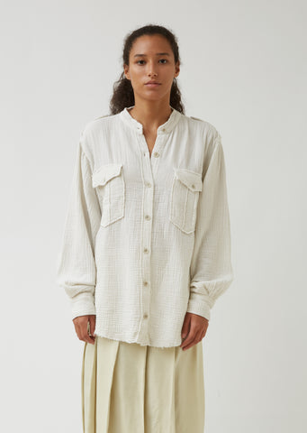 Jepson Cotton Gauze Shirt