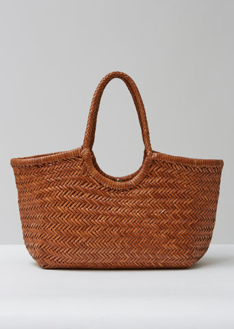 Nantucket Woven Leather Bag