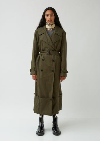 Fold Up Hem Trench Coat