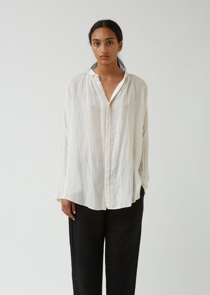 Zen Fragrance Tencel & Linen Blouse