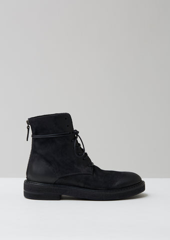 Parrucca Zip Lace Up Boots