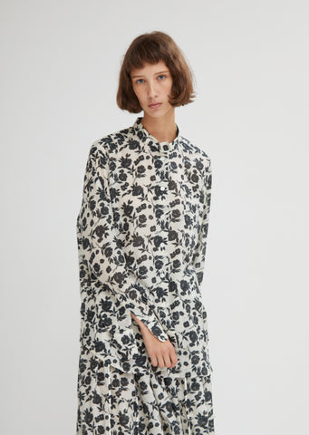Oversized Floral Print Shirt