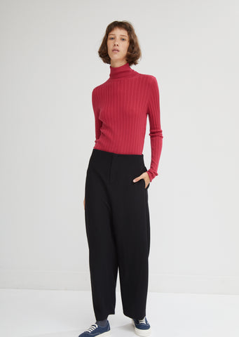 Gathered Wide Leg Pants