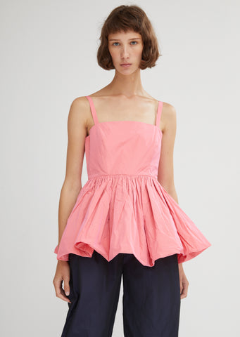 Imogen Sleeveless Taffeta Top